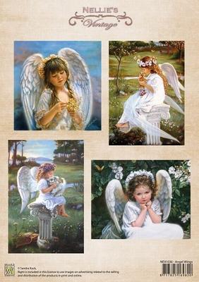NEVI036 3D Knipvel - Vintage - Angel Wings