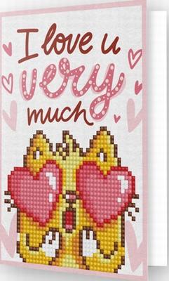 DDG.002 Diamond Dotz® - Greeting Card LOVE YOU