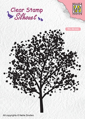 SIL063 Silhouet Clear stamps tree