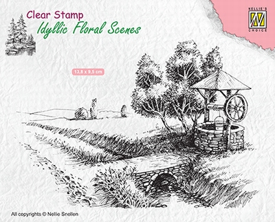 IFS021 Idyllic Floral Scenes clear stamps Well