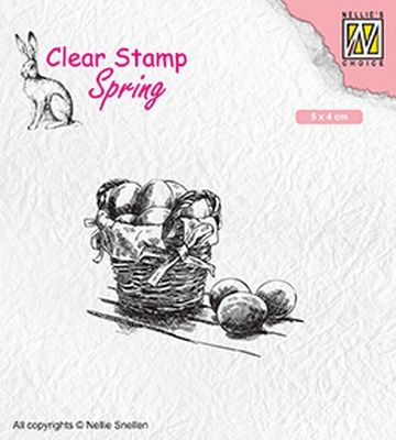 SPCS012 Clear stamps spring/Easter Easter eggs