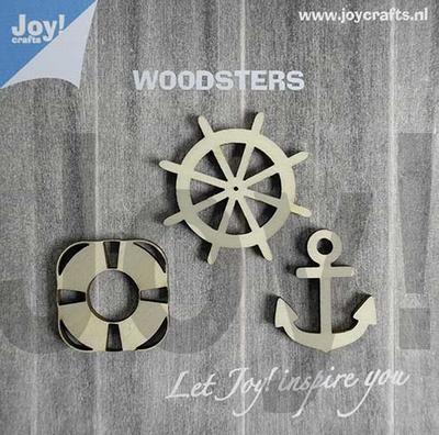 6320/0005 Woodsters - Figuren hout: anker - reddingsboei - s