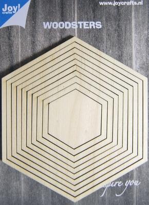 6320/0012 Woodsters Deco-schudkaart hexagon