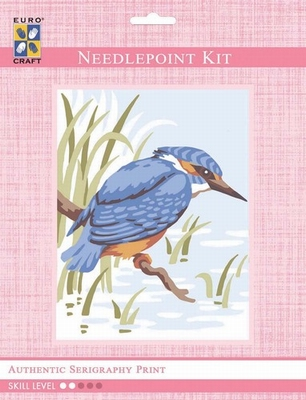 3314K - Eurocraft NEEDLEPOINT KIT 14x18cm King Fisher