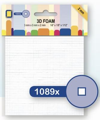 F2.0mm 3.3096 Foampads Mini 2,0mm 3x3mm 1089st.