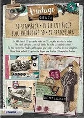 Studio Light - Stansblok A4 - STANSBLOKSL91 Vintage Gents