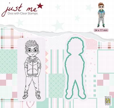 JMSD006 Just Me Die + Clear stamp Teenage boy