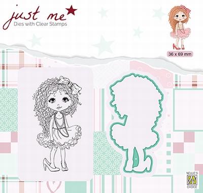 JMSD008 Just Me Die + Clear stamp Lady girl
