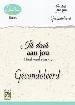 DCTCS002 Dutch Condolence Text Clear Stamps nr. 2