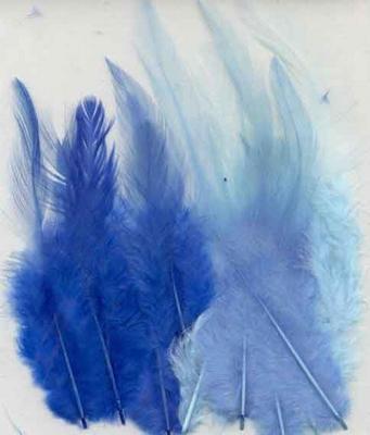 12235-3502 Veren - Blauw - 9-15cm - 15 Stuks