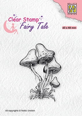 FTCS023 Fairy Clear Stamps TaleMushrooms