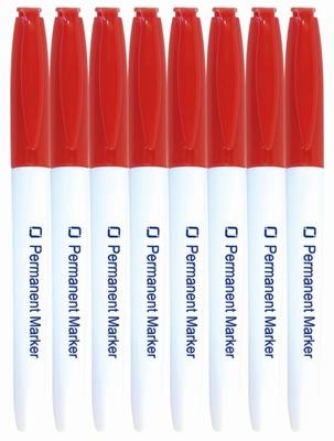 8.9022 Permanent Marker rood per stuk