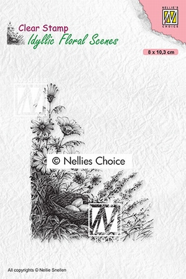 IFS032 Clear Stamps Idyllic floral scenes Bird's nest