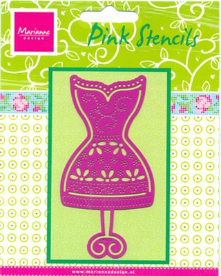 PK9003 - Pink stencils Marianne Design