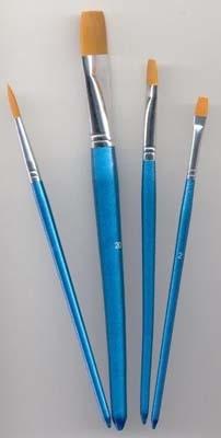 12185-8506 Penselen set nylon 3x plat 1x rond 4 st