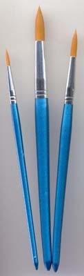 12185-8507 Penselen set nylon 3x rond 3 st