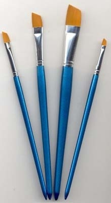 12185-8510 Penselen set nylon 4x plat 4 st