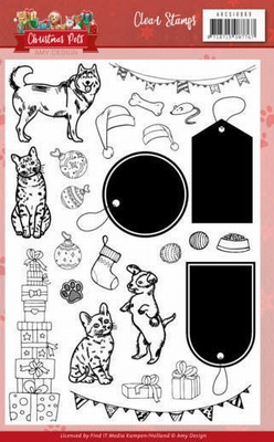 ADCS10069 Clear Stamps - Amy Design - Christmas Pets