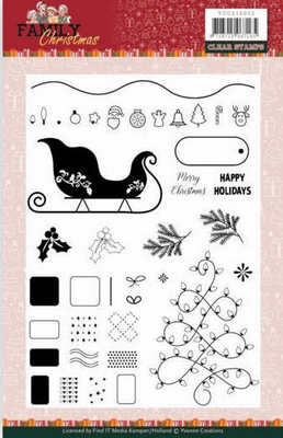 YCCS10052 Clear Stamps - Yvonne Creations - Family Christma