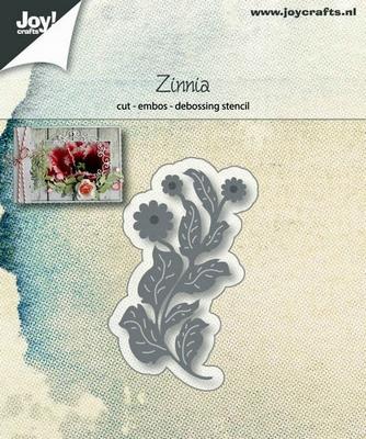 6002/1228 Cut-emboss-debossdie - Flower Zinnia