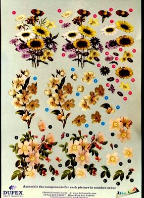 248607 Dufex Freestyle Decoupage Bloemen geel
