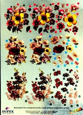248610 Dufex Freestyle Decoupage Bloemen Rose
