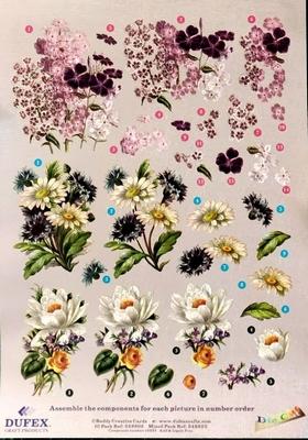 248605 Dufex Freestyle Decoupage Bloemen voorjaar