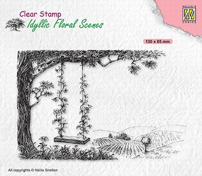 IFS035 Clear stamps Idyllic Florasl Scenes Tree with swing
