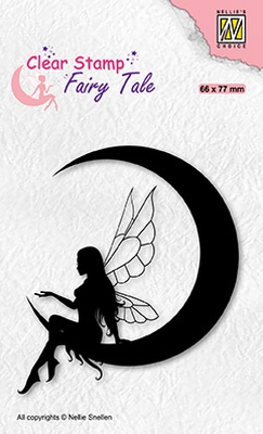 FTCS036 Clear Stamps Fairy Tales Elf on the moon