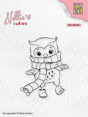 NCCS013 Christmas Cuties Owl with winter-scarf