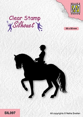 SIL097 Silhouette Clear stamps sports Equestrian sport