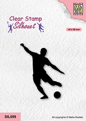 SIL099 Silhouette Clear stamps sports Soccer player