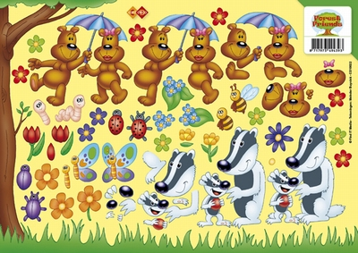 CD10022 Carddeco Forest Friends
