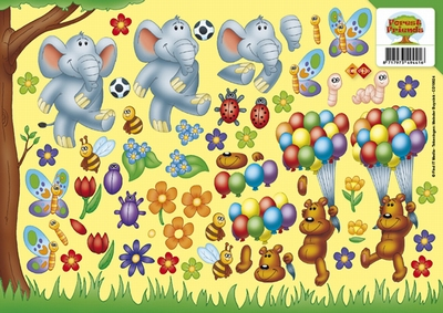 CD10024 Carddeco Forest Friends