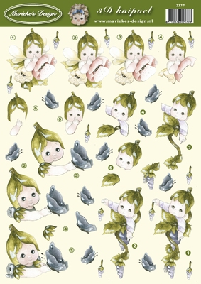 VB2377 Marieke Kindje met vlinder
