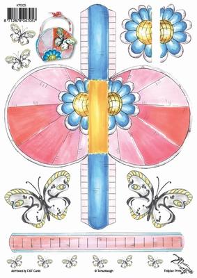 KT005 Tasjes Vlinder  Klik op het plaatje en zie voorbeeld