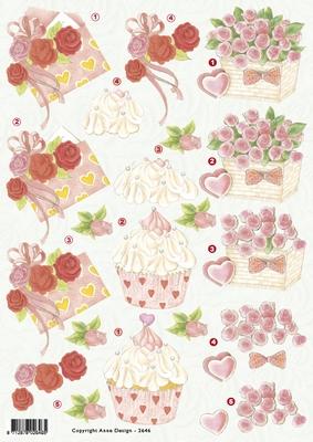 VB2646 Cupcake/bloemen