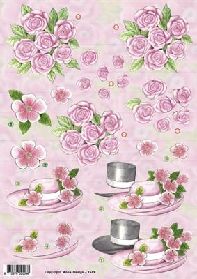 VB2508 Huwelijk/Bloemen