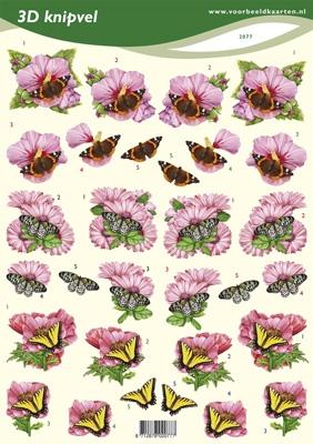 VB2077 Bloemen/Vlinders