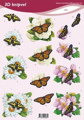 VB2082 Bloemen/Vlinders