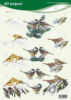 VB2154 Vogels in de sneeuw
