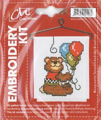 BK340399 Borduurpakket Beertje ballonnen