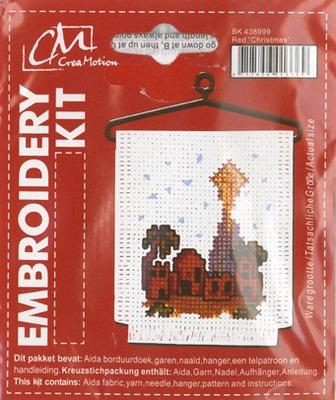 BK438999 Borduurpakket Kerst kerklicht