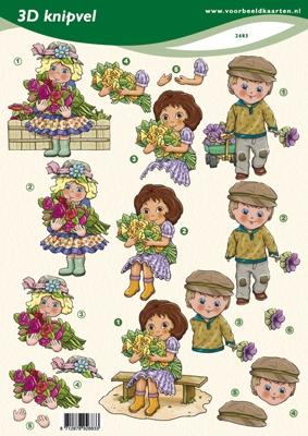 VB2683 Kinderen/Bloemen