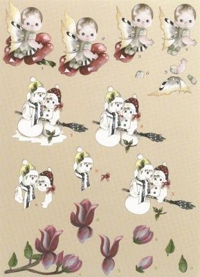 BO06 Marieke's Design Elfje/Sneeuwpop