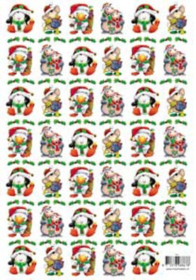 8867T68 Knipvel Kerst + Vellum