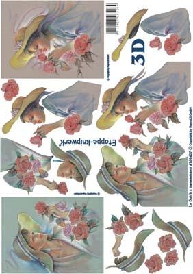 4169427 LeSuh Dame/Bloemen