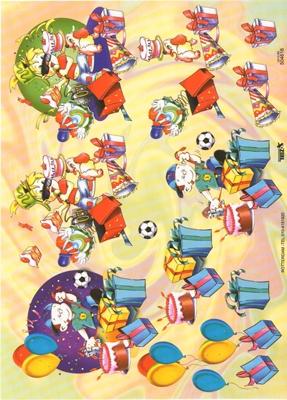 TBZ504616 Embossed Kinderverjaardag