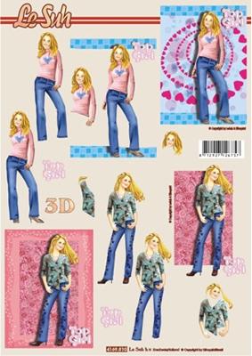 4169810 LeSuh Meisje in jeans