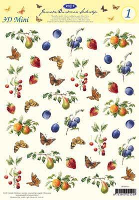JBSMINI01 Janneke Brinkman Fruit/Vlinders